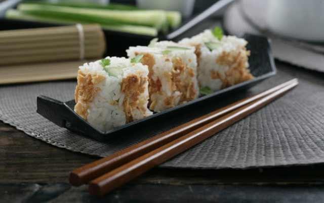 Sushi sin alga nori