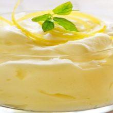 Mousse de leche condensada y limón