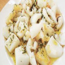 Receta de Sepia con patatas y alioli