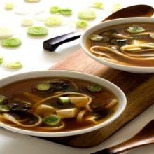 Receta de Sopa de miso vegana