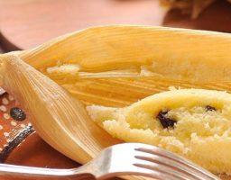 Tamales de maiz blanco