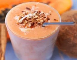 Smoothie de coco y papaya